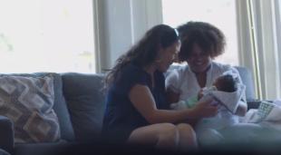 Sara and Deziree admire baby Jadalynn