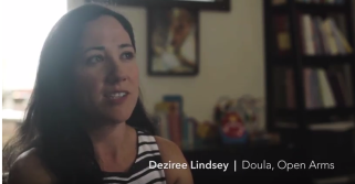 Deziree was Sara's doula, providing support and resources through a trusted relationship