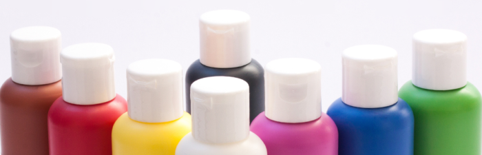 Image of paint bottles